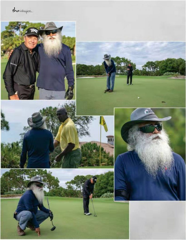 萨古鲁与高尔夫传奇格雷·普雷尔一起度过的美妙一天