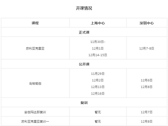 Isha瑜伽12月官方新课、公开课、复训(深圳、上海)