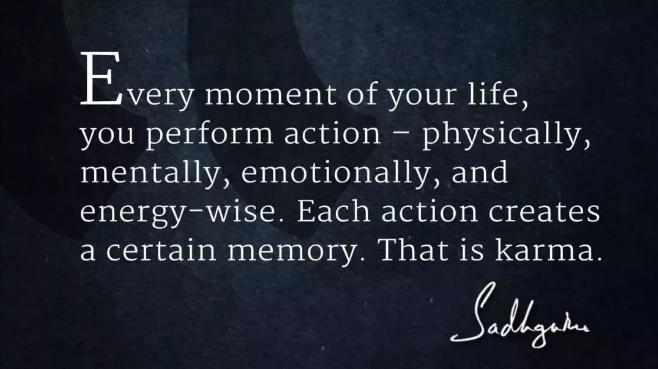 萨古鲁关于业力的六句话