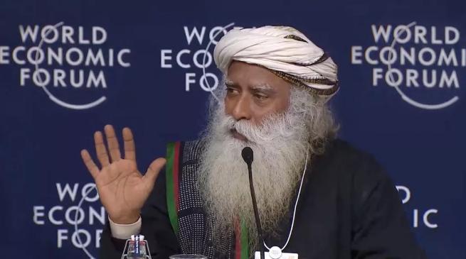萨古鲁在世界经济论坛丨引入冥想和觉知