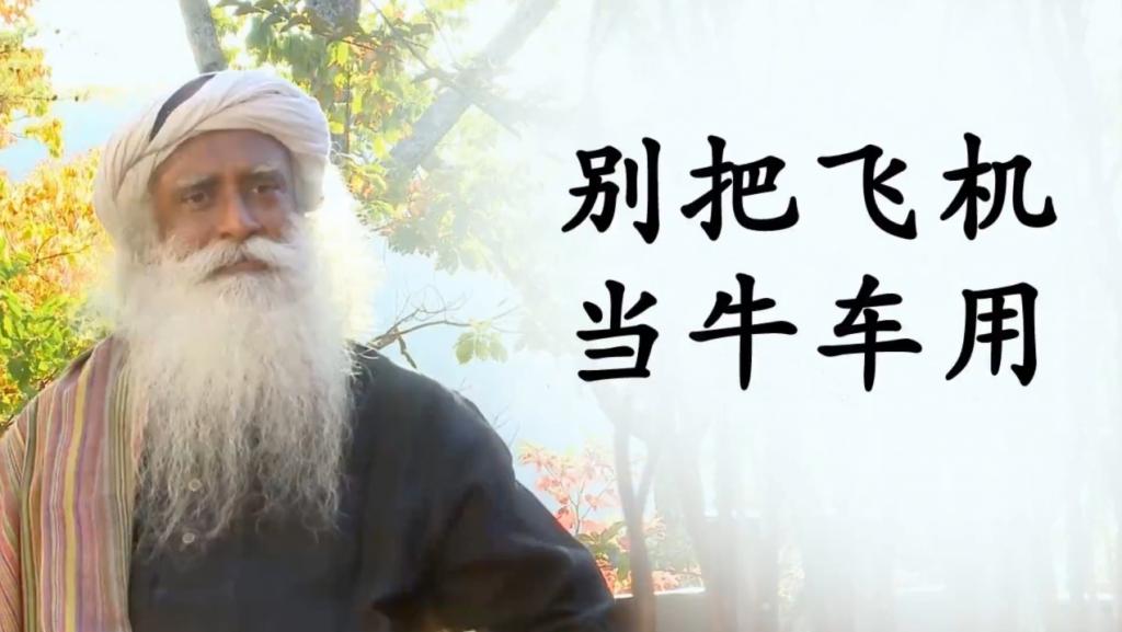 张德芬采访萨古鲁——别把瑜伽这架飞机当牛车用