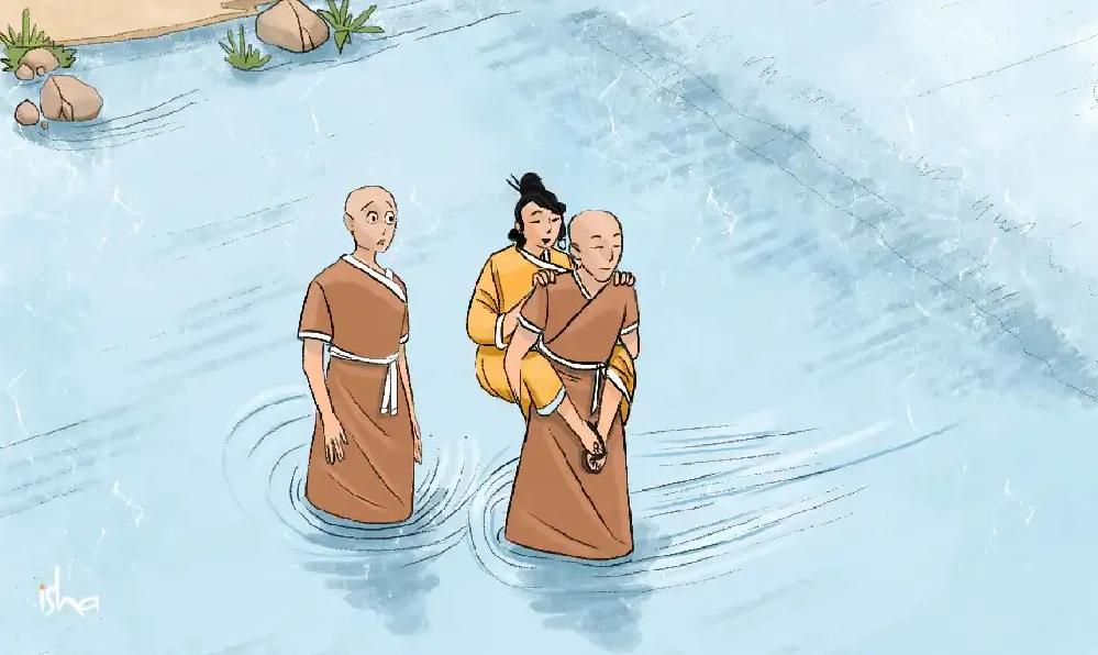 禅宗故事丨一个和尚背一位女子过河